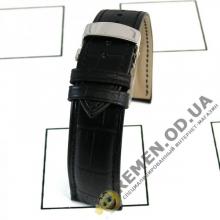 18 мм. Кожаный ремешок с клипсой