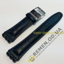 Ремешок для часов свотч 19 мм, синий