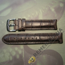 20мм. Кожаный ремешок с полукруглым креплением