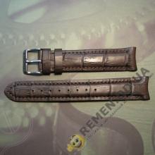 20 мм. Кожаный ремешок из натуральной кожи с полукругом, police