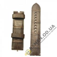 20 мм. Натуральный ремешок из кожи крокодила, ручная работа, 100% качество