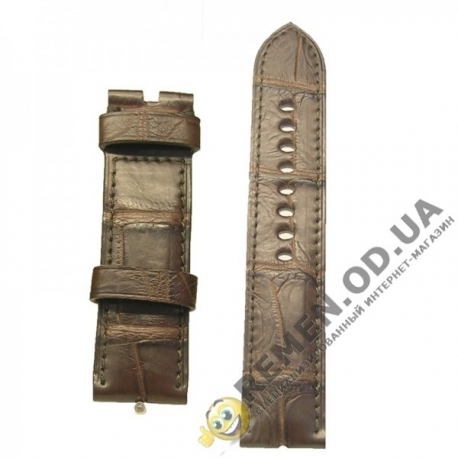 20 x 20мм. арт. wk20-100. Натуральный ремешок из кожи крокодила