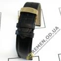 20мм. Кожаный ремешок с клипсой золотого цвета