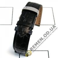 22мм. Кожаный ремешок с клипсой