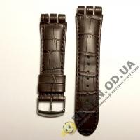Ремешок для часов swatch 23 мм, коричневый
