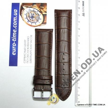 24мм. Кожаный коричневый ремешок