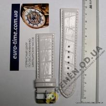 TR-24-26. Ремешок для часов, белый, 24мм