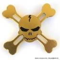 Высококачественный спиннер золотой череп 944-1