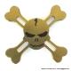 Высококачественный спиннер бронзовый череп 944-2