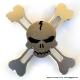 Высококачественный спиннер ребрянный череп 944-3