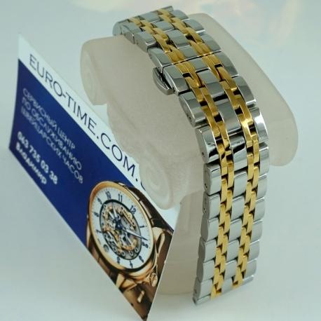 Премиум браслет для наручных часов - комби с жёлтым золотом