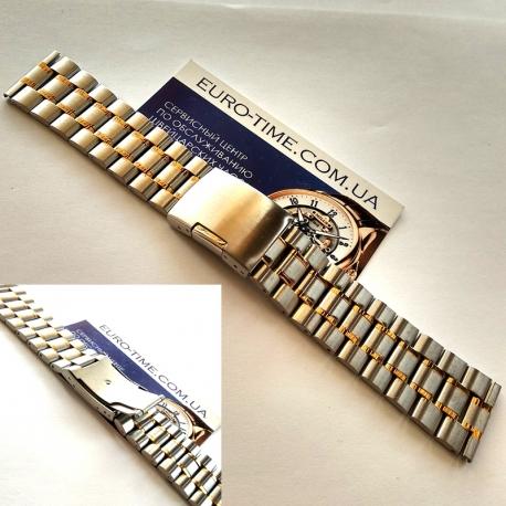 Стальной браслет для мужских часов, 19 мм