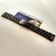 Стальной браслет, цвет чёрный, для мужских часов, 18 мм