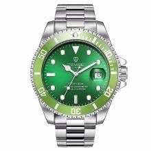 Часы Tevise - Зеленый Циферблат и Стальной Корпус