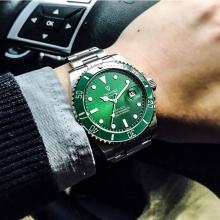 Мужские легендарные механические часы позолоченной вставкой ET1801G2