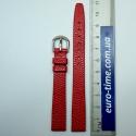 Красный без строчек ремешок для женских часов 12 мм