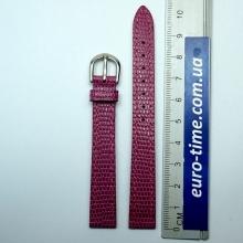 Розово ягодный ремешок для женских часов 12 мм