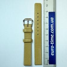 Ремешок для женских часов, кожа, бежевый, размер 12 мм