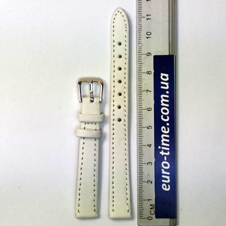 Ремешок на часы, 12 мм, белый гладкий