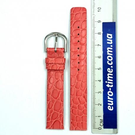 Розовый ремешок для женских часов, 14 мм