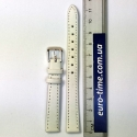 Ремешок на часы, 14 мм, белый гладкий