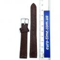 Ремешок на часы, 14 мм, коричневый факурный