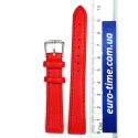 Ремешок на часы, 14 мм, красный гладкий