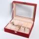Шкатулка для 6 пар часов бижутерии серёжек и драгоценностей цвет красный - модель35