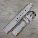 Белый ремешок для женских часов, 16 мм