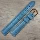 Голубой ремешок для женских часов, 16 мм