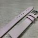 Розовый тканевый с кожаной подкладкой, 16 мм