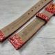 Морковный ремешок для женских часов, змея, 16 мм