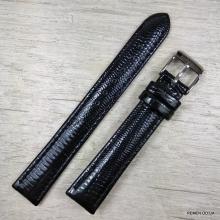 Чёрный лаковый ремешок для Louis Vuitton, 16 мм