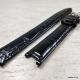 Чёрный лаковый ремешок для chopard с вырезом, 16 мм