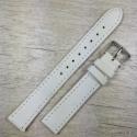Ремешок для часов, белый гладкий, 16мм