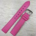 Ремешок для часов, розовый гладкий, 16мм