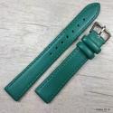 Ремешок для часов, зеленый гладкий, 16мм