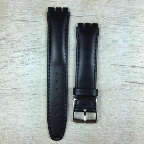 Ремешок для часов SWATCH 17 мм, чёрный