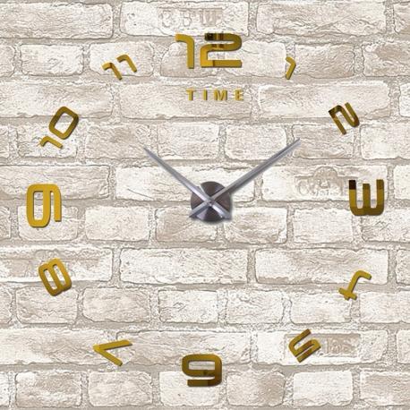 Настенные часы 3д, GOLD, размер XL