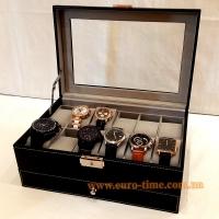 Шкатулка для 12 пар часов, запасных ремешков, документов и драгоценностей