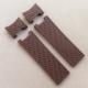 Ремешок каучуковый коричневого цвета для часов ulysse nardin волна из четырёх деталей