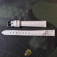 Белый ремешок для женских часов 12 мм