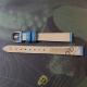Голубой ремешок для женских часов 12 мм