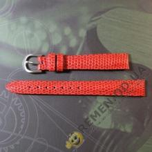 Красный ремешок для женских часов 12 мм