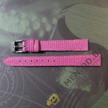 Розовый ягодный ремешок для женских часов 12 мм