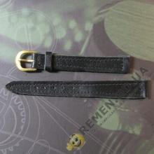 Чёрный ремешок для женских часов 12 мм
