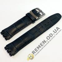 Ремешок для часов SWATCH 17 мм, синий крокодил