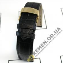 18мм-088zg. Кожаный ремешок с клипсой